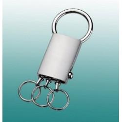 Schlüsselanhänger aus Satinmetall mit 3 abnehmbaren Ringen