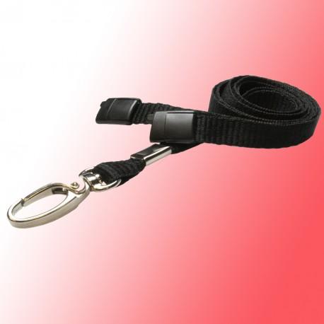 Umhängeband-Polyster Flachband 10mm mit einem Karabinerhaken konfektioniert