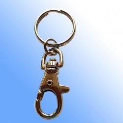 Karabinerhaken mit Schlüsselring