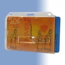 """Scheckkartenhalter """"Doppelbox"""" für zwei Ausweise und mit zwei Ausschiebern"""