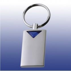 Rechteck-Schlüsselanhänger aus Metall mit Einsatz