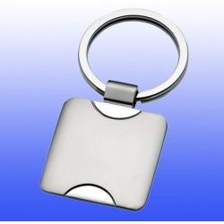 Schlüsselanhänger quadratisch, aus Metall