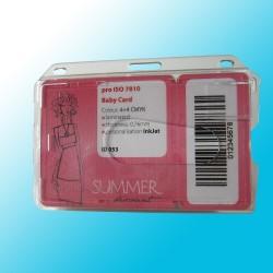 Scheckkartenhalter mit Daumenausschub und Langloch
