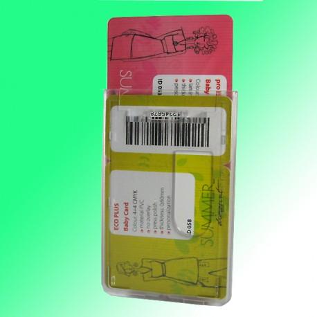 Mehrfach - Scheckkartenhalter für 2 Plastikkarten