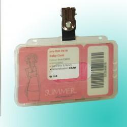 ESD-Scheckkartenhalter antistatisch mit Rundlöchern und Daumenausschub