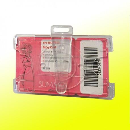 Scheckkartenhalter mit drehbarem Clip