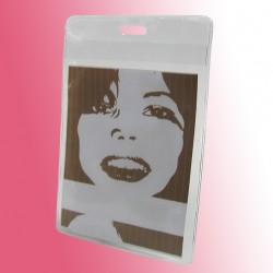 Ausweishülle für DIN A7 aus transparenter Folie
