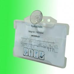 Parkkartenhalter horizontal mit Saugnapf 20 mm