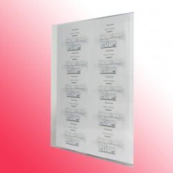 Sichthülle DIN A4 transparent oben und seitlich offen - 50 Stück