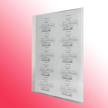 Sichthülle DIN A4 transparent oben und seitlich offen