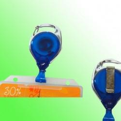 Ausweisjojo mit Metallumrandung und Gürtelclip