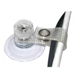 10 Stück Saugnapf 30 mm Kabelschelle, textilverstärkter Lasche