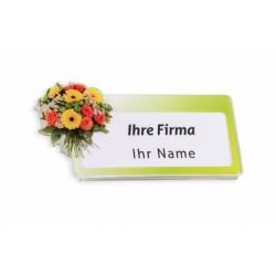 """Acryl-Namensschild """"Floristik"""" mit Magnet zur Selbstbeschriftung"""