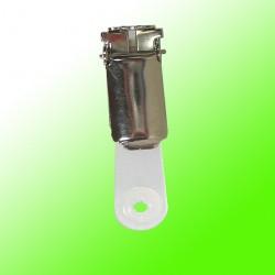 Ausweisclip, drehbar, mit Kunststoffniete