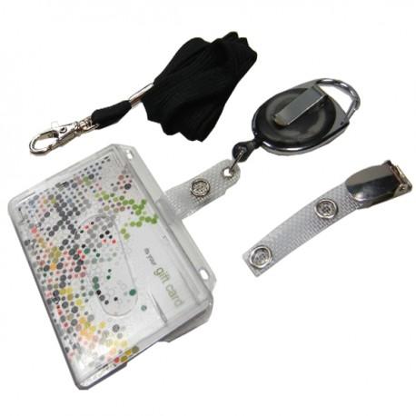Scheckkartenhalter- Ausweisjojo-Clip-Umhängeband