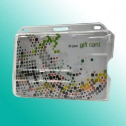 Scheckkartenhalter mit einem Schieber und Langloch