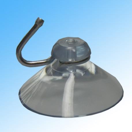 Saugnapf transparent mit Metallhaken 40mm Durchmesser