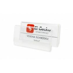 Namensschild aus hochwertigem Acrylglas, passend für Kartenformat ca. 60 x 25 mm