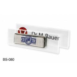 Namensschild aus hochwertigem Acrylglas, 1 mm, passend für Kartenformat 70 x 20 mm