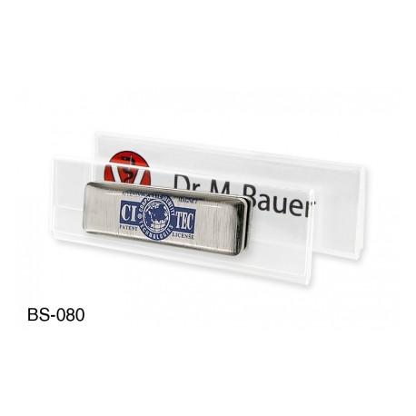 Namensschild aus hochwertigem Acrylglas, 1 mm passend für Kartenformat 70 x 20 mm