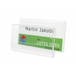 Namensschild aus hochwertigem Acrylglas, 1 mm passend für Kartenformat 70 x 35 mm